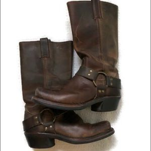 Frye Harness rugged leather boots sz 6M brown